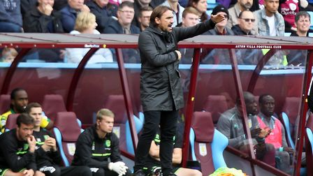 Norwich City head coach Daniel Farke will have been disappointed by his side's display at Villa Park