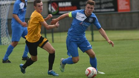 Action from Wroxham's 2-2 draw against Stanway Rovers on Saturday in the Thurlow Nunn Premier Divisi
