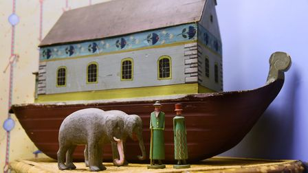 The 19th century Noah's Ark in the toy room at Stranger's Hall which inspired Vanessa Burroughes' ar
