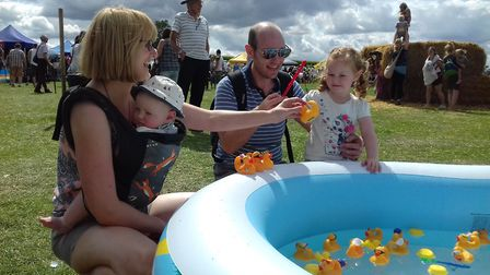 Maisebrooke Farm Summer Fair: William and Senta Cotes with baby Thomas & 2year old. Picture: Julia H