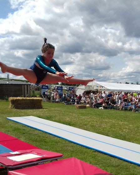 Maisebrook Farm Summer Fair: Ruby Mae Roos performing with the Beccles Royales. Picture: Julia Harri