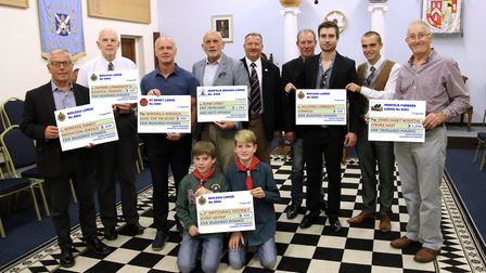 Charities receiving donations from the Wroxham Freemasons. Picture: RICHARD PRYOR