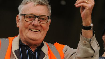 John Mason, a big Yarmouth fan, at the FA cup game between Great Yarmouth and Diss. PICTURE: Denise