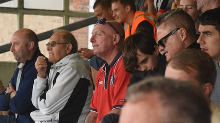 Fans at the FA cup game between Great Yarmouth and Diss. Picture: DENISE BRADLEY
