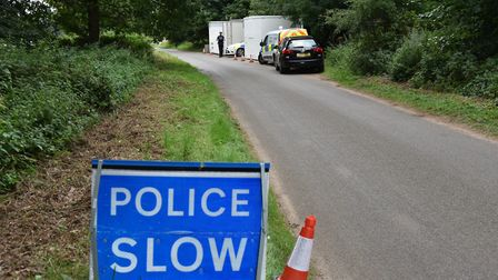 The murder scene in woodland near East Harling Byline: Sonya Duncan Copyright: Archant 2017a