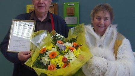 Patricia Howe with partner Peter Brown in 2012. Ms Howe had been made an honorary grandmother at The