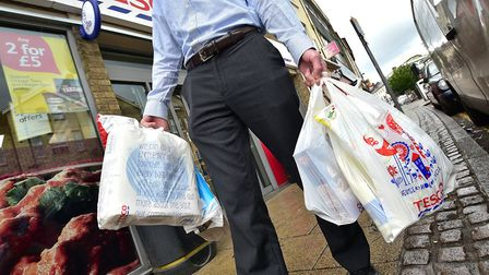 Tesco 5p plastic carrier bags. Picture: ANTONY KELLY