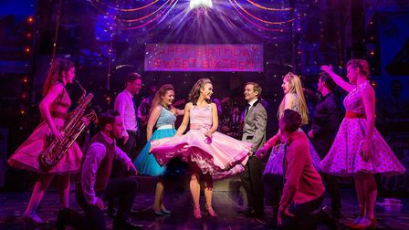 The cast of Dreamboats and Petticoats 2017 UK Tour. Photo by Pamela Raith Photography