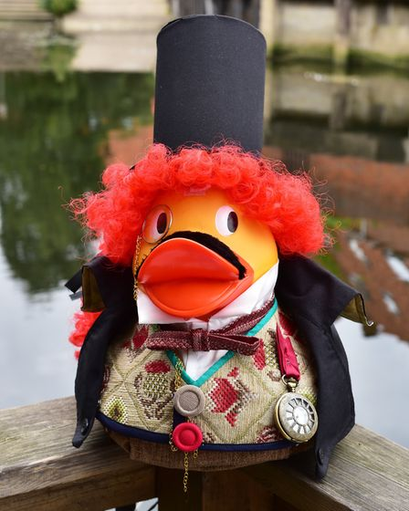 Preview of the hand painted ducks that will be taking part in Break's annual duck race in Norwich.P