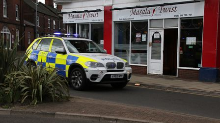 The Masala Twist restaurant in Prince of Wales Road, Cromer, where trouble brewed on Saturday night.