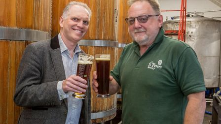St Peter's chief executive Peter Magnall and head brewery Steve Groves. Picture: Lee Blanchflower
