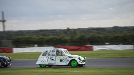 The Greg Page led Watton based Team Iceni in action at the 2CV 24 Hours at Snetterton. Picture: Elle