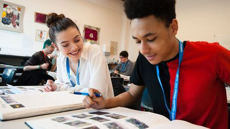 Students learning at City College Norwich. Photo by Keith Whitmore. Copyright � Keith Whitmore.