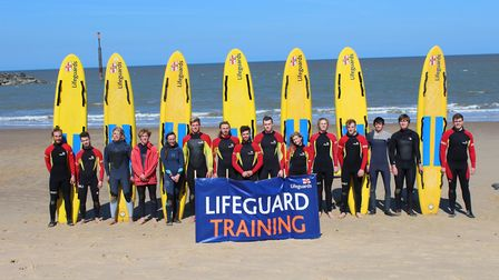 The 2017 Norfolk lifeguard team. Pictures: RNLI
