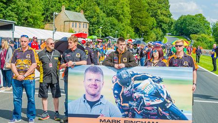 Mark Fincham remembered with a minute's silence. Picture: Barry Clay