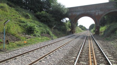 New track has been laid on the East Suffolk Line between Ipswich and Halesworth. Picture: NETWORK RA