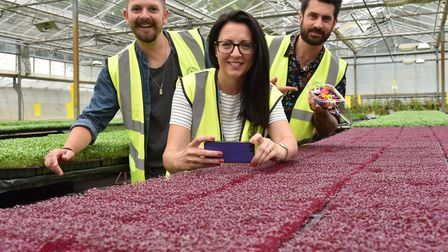 Nurtured in Norfolk is visited by Ellen Mary of Mustard TV and gardeners (right) Michael Perry (aka
