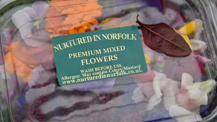 A box of edible flowers. Byline: Sonya Duncan Copyright: Archant 2017