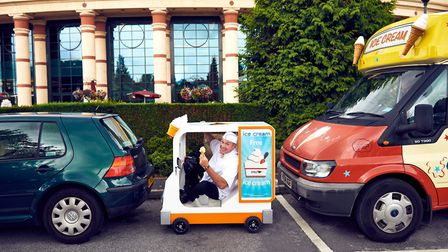 The world'�s smallest ice cream van will deliver free ice cream to shoppers at intu Chapelfield in N