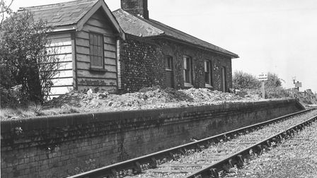 Stanhoe railway station (on the Burnham Market - Heacham line) which was about to be converted into