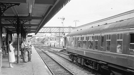 People waiting on the platform at Dereham Railway Station - undated. Picture: Archant Library