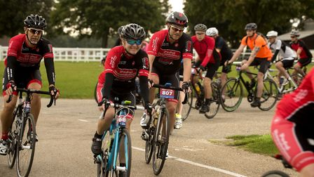 Start of the Tour de Norfolk cycle ride from the Norfolk Showground in 2016. PHOTO: Nick Butcher