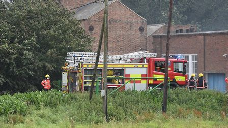 Fire at a barn on the outskirts of Wisbech. Picture: Ian Carter