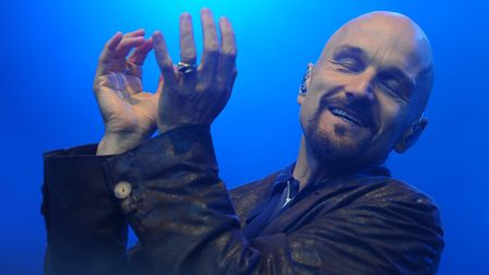 Tim Booth of James playing a concert at High Lodge in Thetford Forest in 2013. Picture: Simon Parker