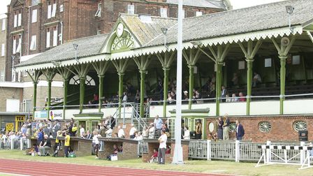 The magnificent stand at The Wellesley back in 2003 when TV cameras headed to Great Yarmouth for th