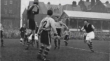Great Yarmouth's big moment in the cup, when they beat Crystal Palace in the first round in 1953. P