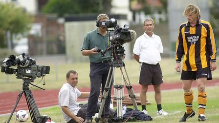 Lights, camera, action - Football Focus keeps an eye on proceedings in 2003. Picture: Archant