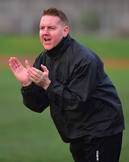 Great Yarmouth Town's joint manager Adam Mason. Picture: Nick Butcher