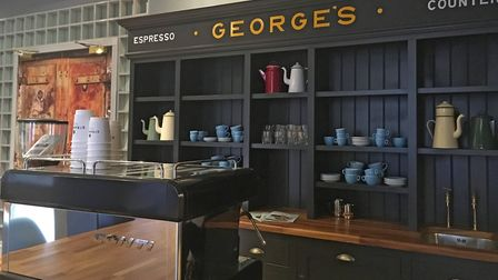 The St George's Works espresso machine. Picture: Giff Mulley