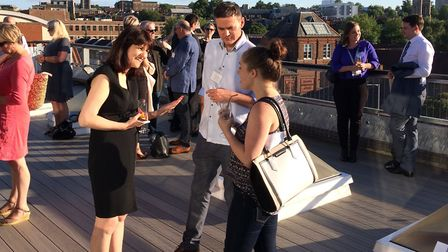 People enjoying the St George's Works rooftop terrace. Picture: Giff Mulley