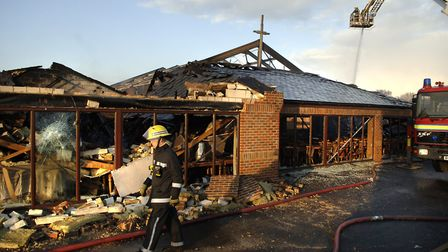 Mount Zion Church, in Heartsease Lane, was destroyed in a fire. Picture: James Bass .