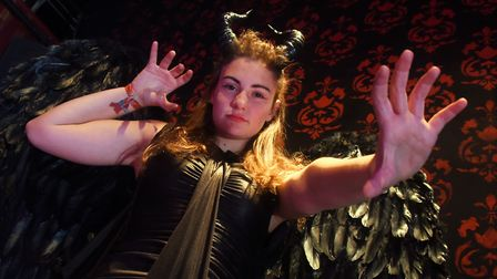 Leah Watson as Maleficent in Sleeping Beauty being performed at the Garage. Picture: DENISE BRADLEY