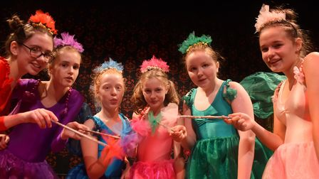 Dizzy fairies in Sleeping Beauty being performed at the Garage. Picture: DENISE BRADLEY
