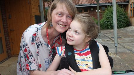 Josephine Rudd of Horning, with ten-year-old daughter Alyssia, who has profound and multiple disabil
