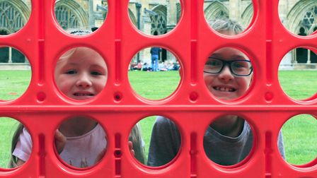 Zachary hinchliffe, three, play with a diablo, at the Norwich Cathedral Fun Day. Picture: CHARLOTTE