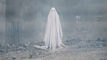 Casey Affleck as the ghost of C. in A Ghost Story. Photo: Picturehouse Entertainment/Bret Curry/A24