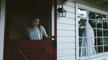 Rooney Mara as M and Casey Affleck as C. in A Ghost Story. Photo: Picturehouse Entertainment/Bret Cu