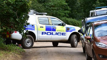 Police conduct anniversary checks near the scene of the murder of Peter Wrighton in East Harling, No