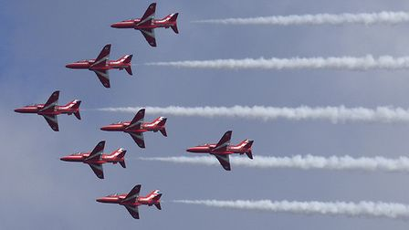 The Red Arrows return to Cromer Carnival next week. Picture: iwitness