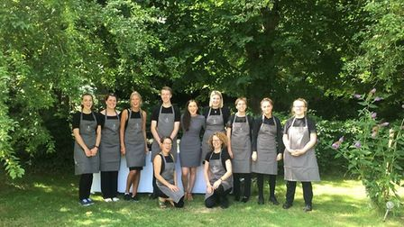 The catering team from Caraway-Roe Events. Photo supplied by Caraway-Roe Events