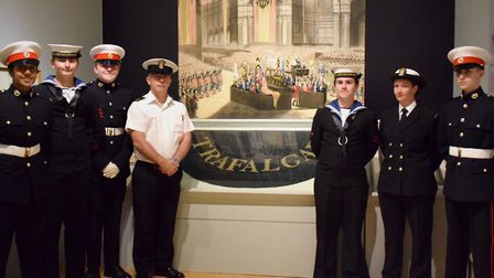 Some Norwich Sea Cadets have visited the Nelson and Norfolk exhibition at Norwich Castle to pay thei