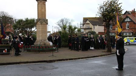 Sheringham turned out to pay its respects with a wreath-laying service at the town's war memorial. P