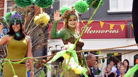The annual Beccles carnival parade through the centre of the town. August 2016. Picture: James B