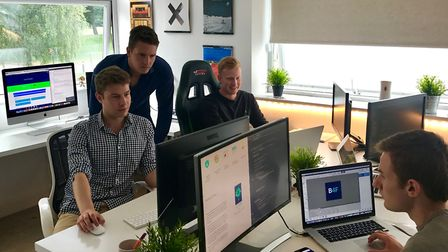 The Bet4F team at work at their Earlham Road office. Picture: Bet4F