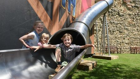 Slide down the Time Tunnel at Framlingham Castle. But be quick, as it's only in place until October.