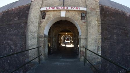 The entrance to Landguard Fort. Picture: Peter Wiles.